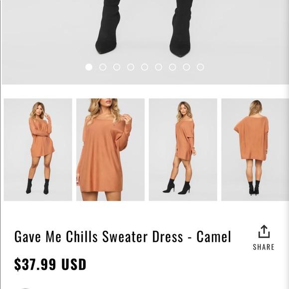 7a3aebb05ae Burnt orange sweater dress. NWT. Fashion Nova